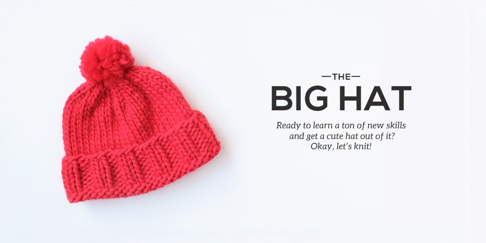 Big Stitch Knitting Patterns : How to Knit a Big Hat - Sheep and Stitch