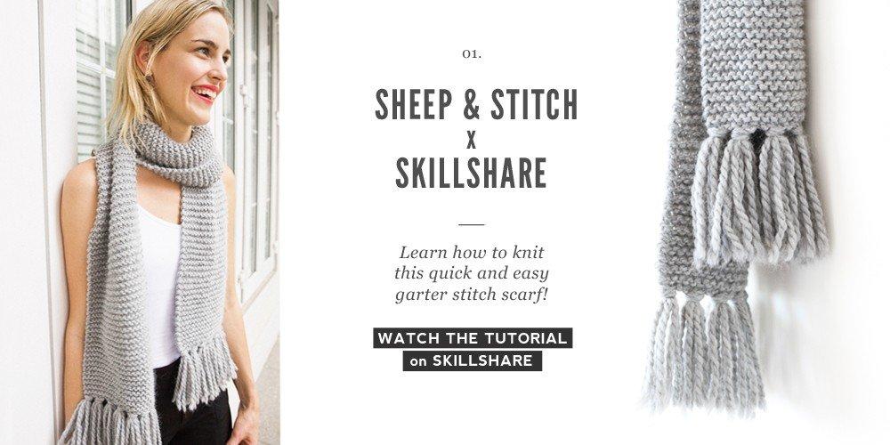 garter-stitch-scarf-skillshare