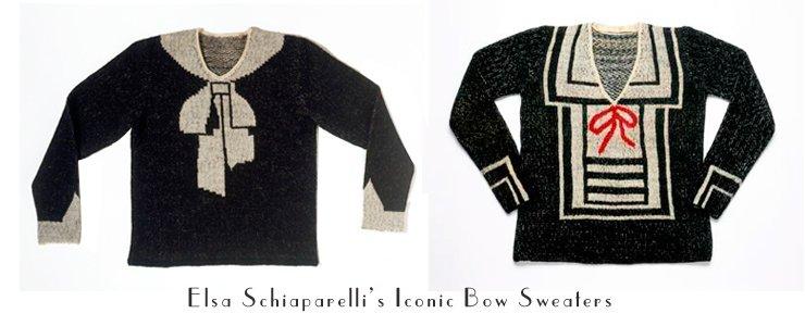 elsa schiaparelli bow sweaters