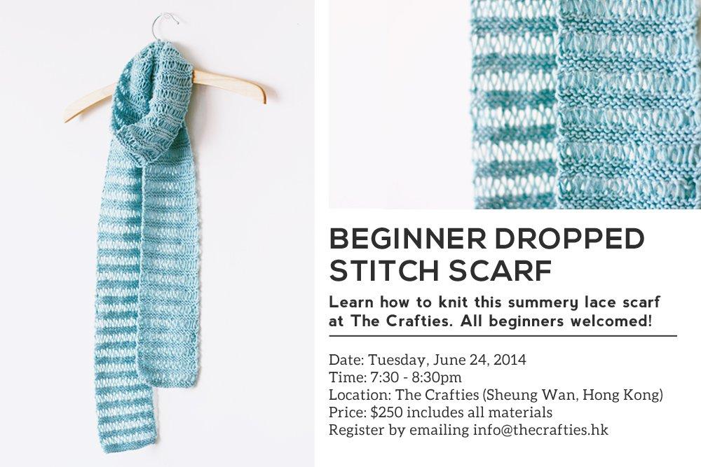 Dropped Stitch Scarf