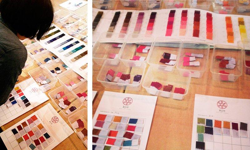 KPC Yarns colour testing