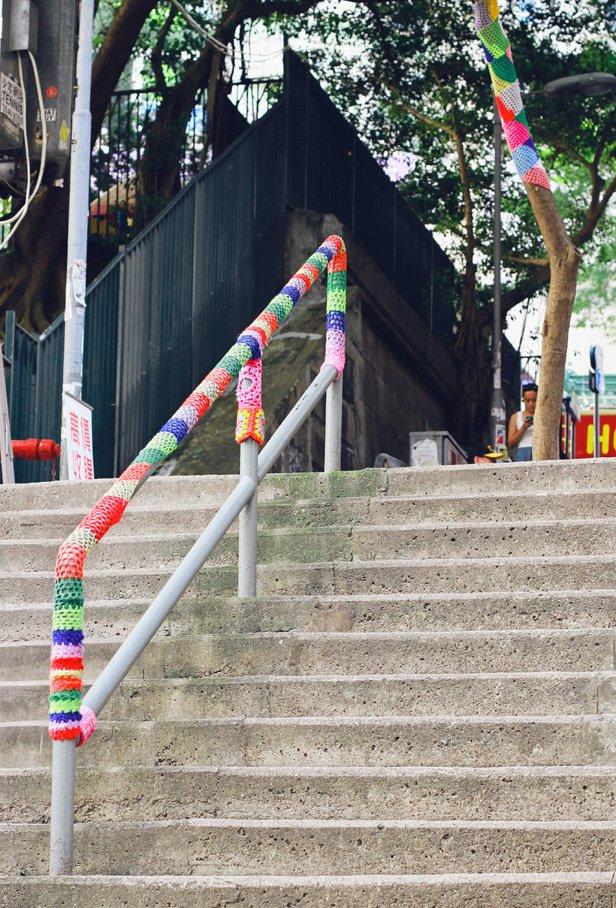 Yarn bomb hong kong