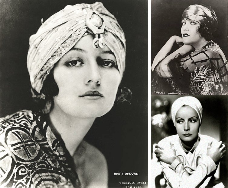 starlets wearing turbans in 1920s