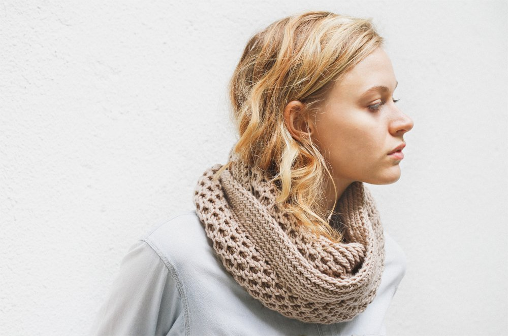Honey Stitch Cowl Knitting Pattern
