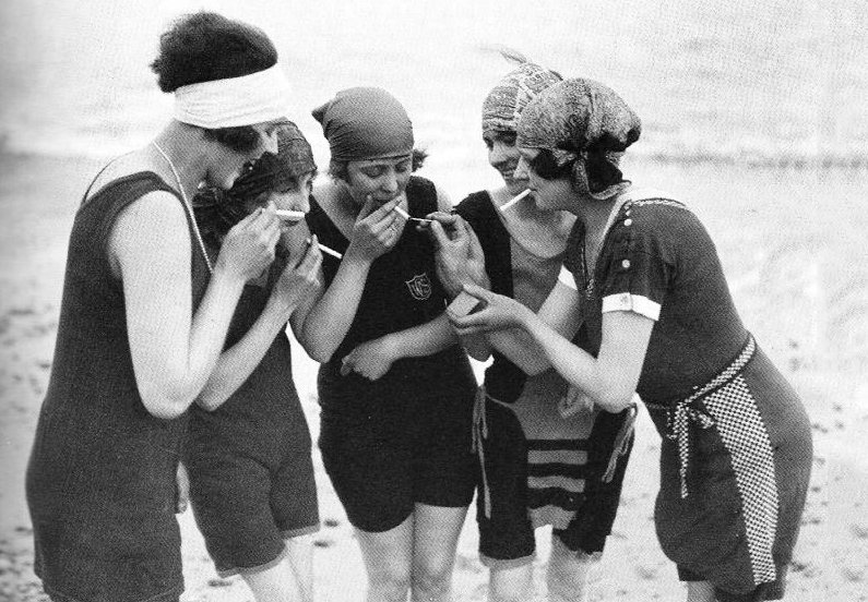 flappers on a beach