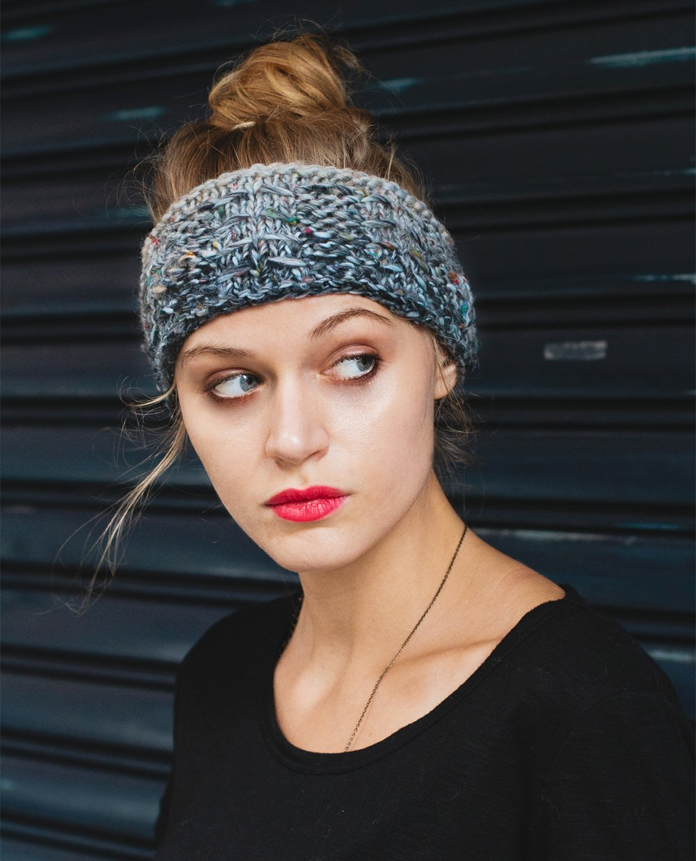 Pattern Knit Headband : The Stone and Arrow Free Knitting Pattern - Sheep and Stitch