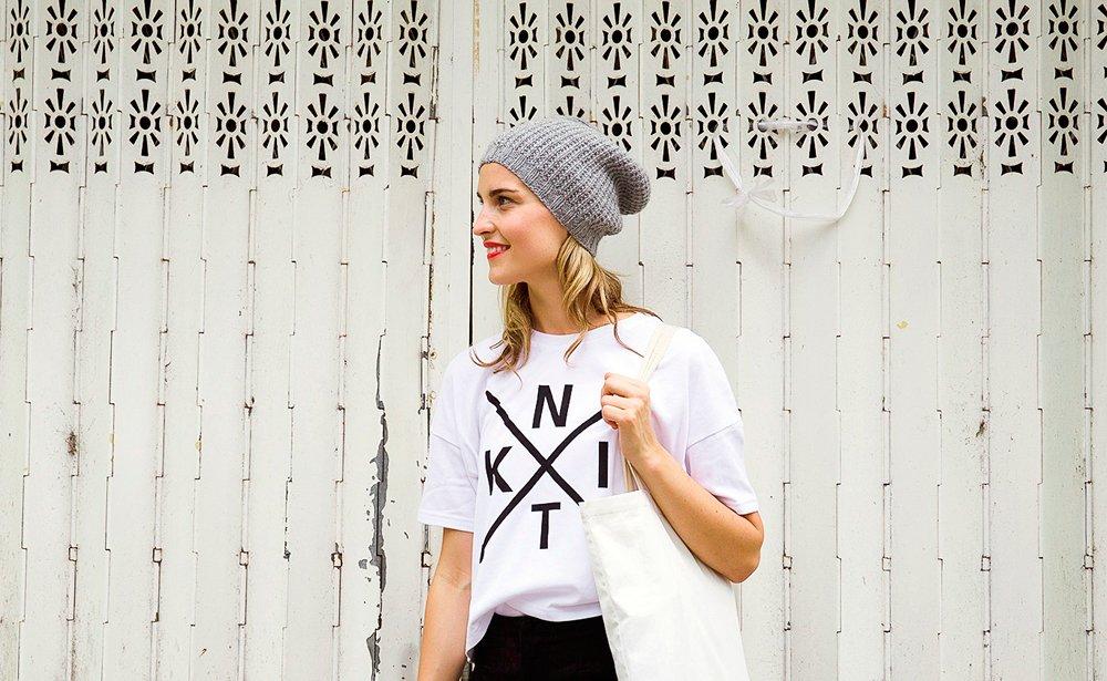 knitting tshirt