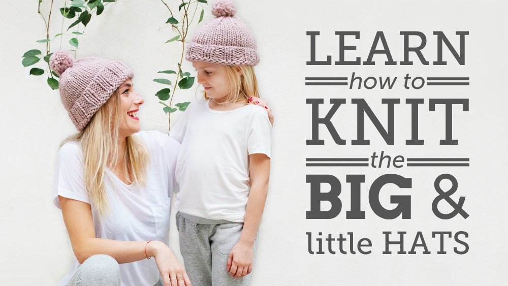 Big and Little Hats Knitting Pattern