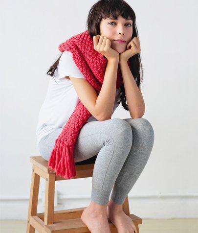 moss stitch scarf knitting pattern kit