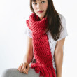 moss stitch scarf knitting pattern kit