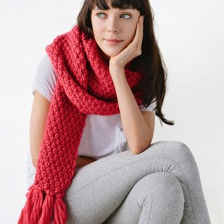 moss stitch scarf knitting kit