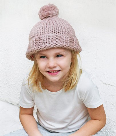 big and little hat knitting kit