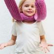 baby pom scarf knitting pattern