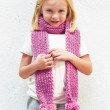 baby pom scarf knitting pattern for kids