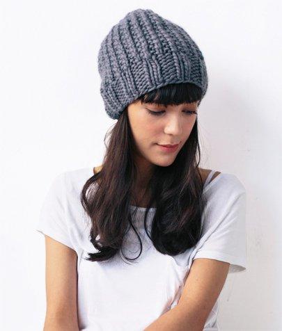 waffle stitch hat slouchy knitting kit
