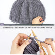 waffle stitch slouchy hat knitting pattern tutorial video