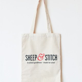 Sheep and Stitch Tote Bag