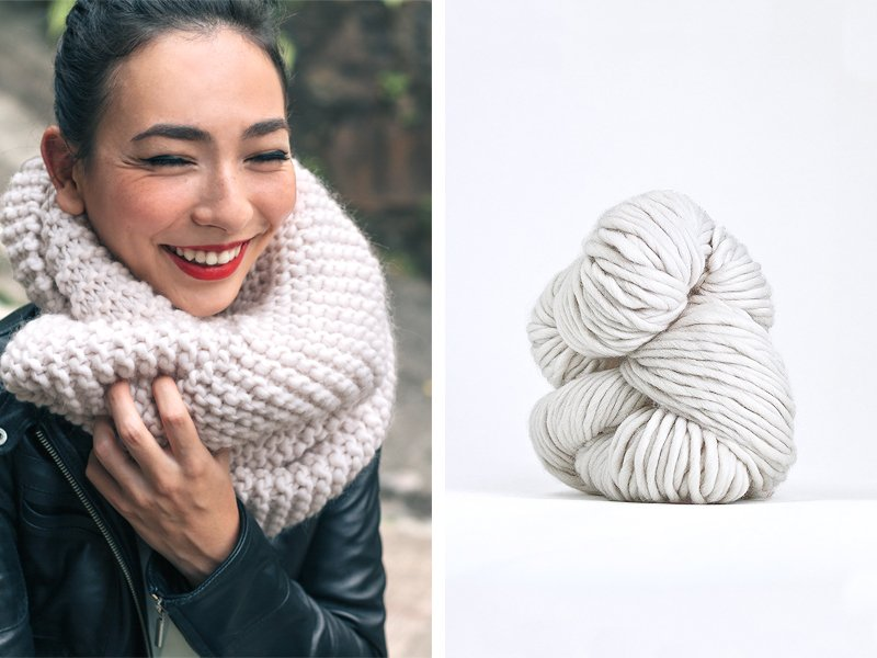 Scarf Knitting Styles : Style trends chunky knit scarves sheep and stitch
