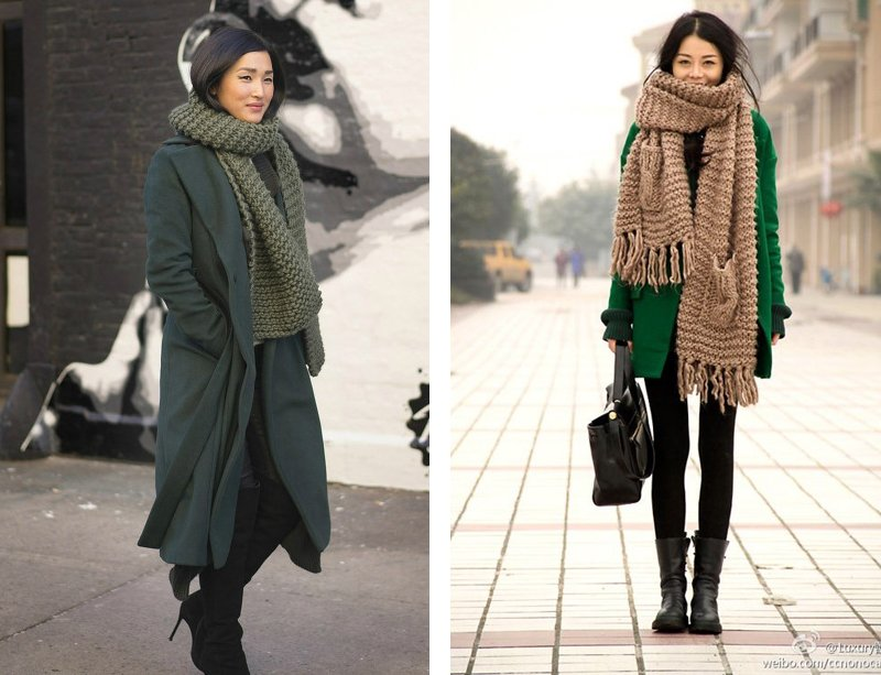 Style Trends Chunky Knit Scarves Sheep And Stitch