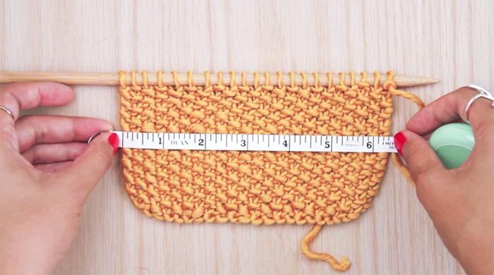 measuring gauge swatch