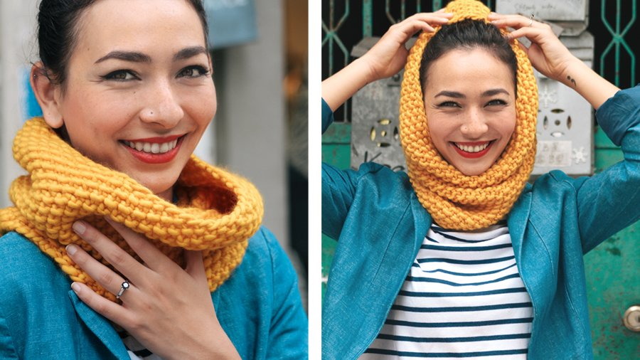 Seed Stitch Scarf and Cowl Pattern - Customised for Any Yarn ...