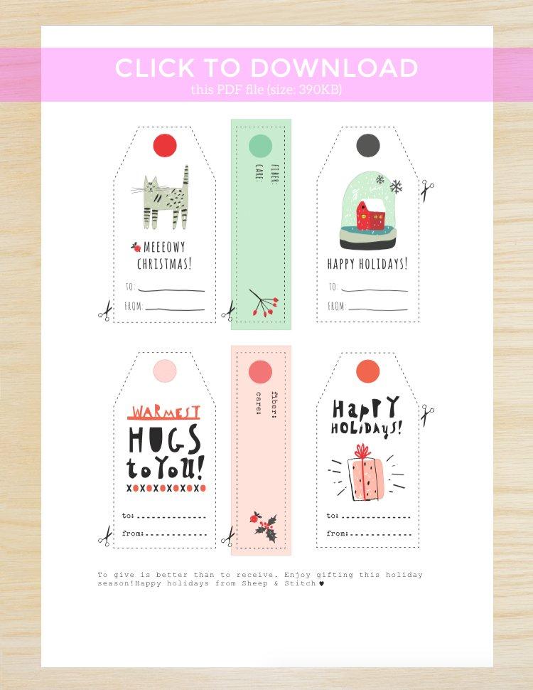 holiday printable gift tags
