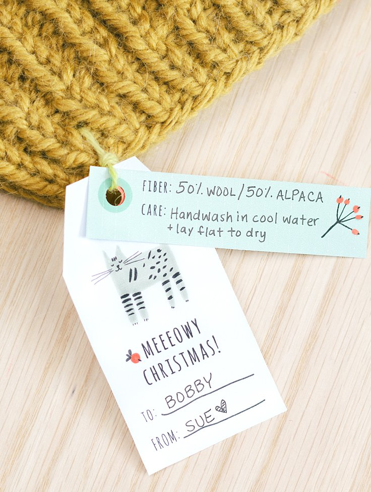 printable gift tag for knitters
