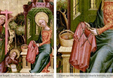 Knitting Madonna Master Bertram