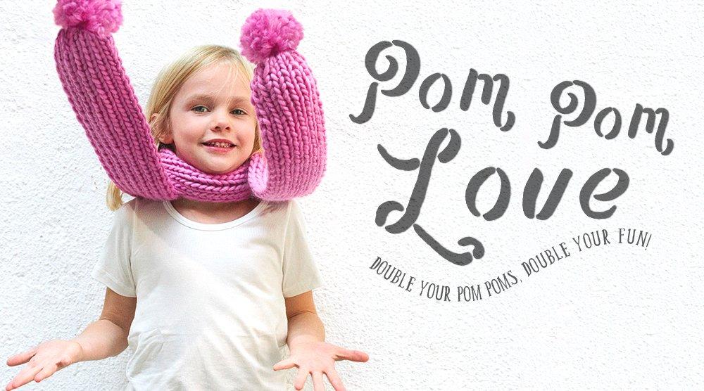 Baby Pom Scarf Knitting Pattern Tutorial