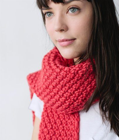 Moss Stitch Scarf Knitting Pattern : Moss Stitch Scarf Pattern - Sheep & Stitch