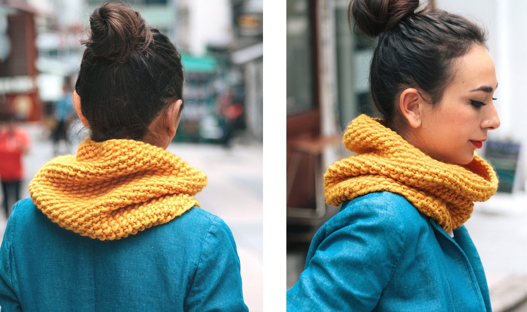 Seed Stitch Scarf and Cowl Pattern - Customised for Any Yarn