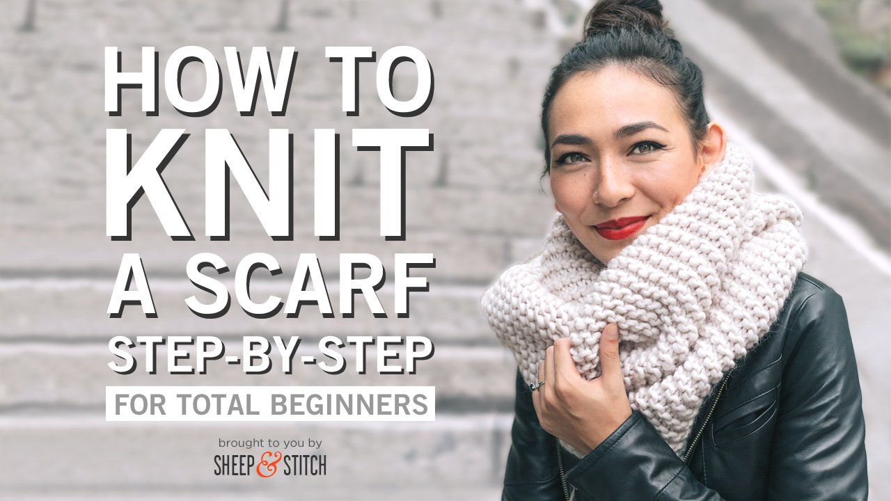 How To Knit A Scarf For Beginners Sheep And Stitch Tying Diagram