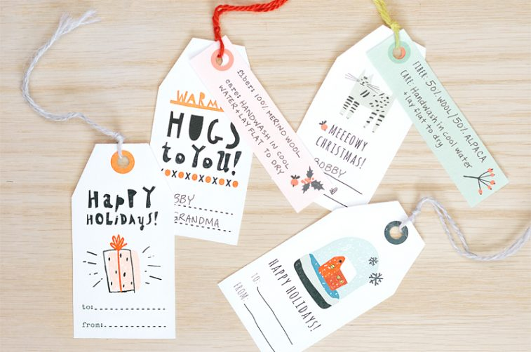 printable gift tags for knitters