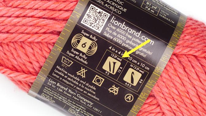 chunky yarn label