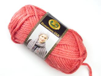 pink chunky yarn