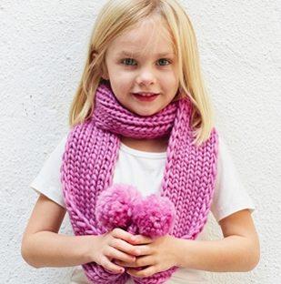 baby pom scarf pattern