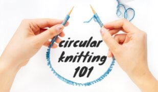 how to knit in the round tutorial