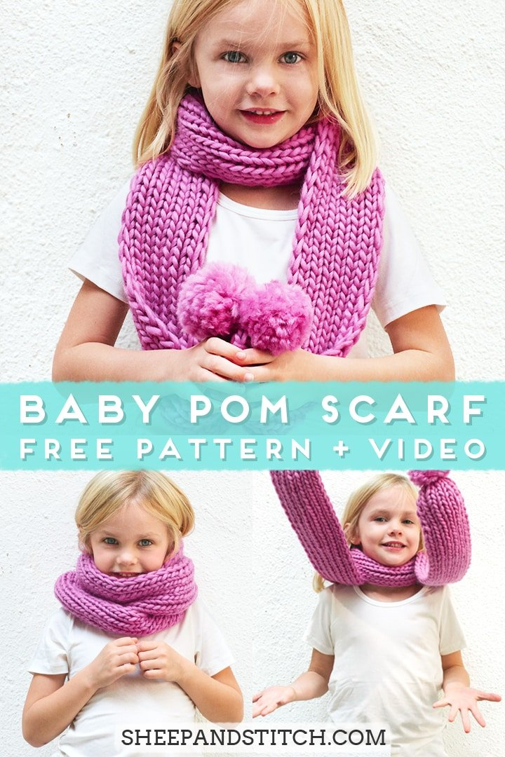 little girl wearing a pink scarf
