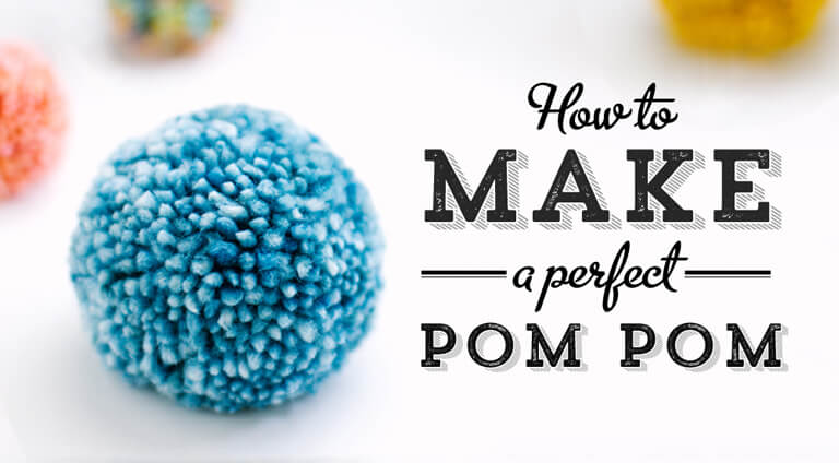 blue pom pom tutorial graphic