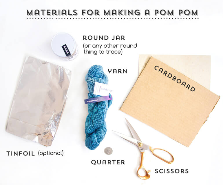 materials for making a pom pom