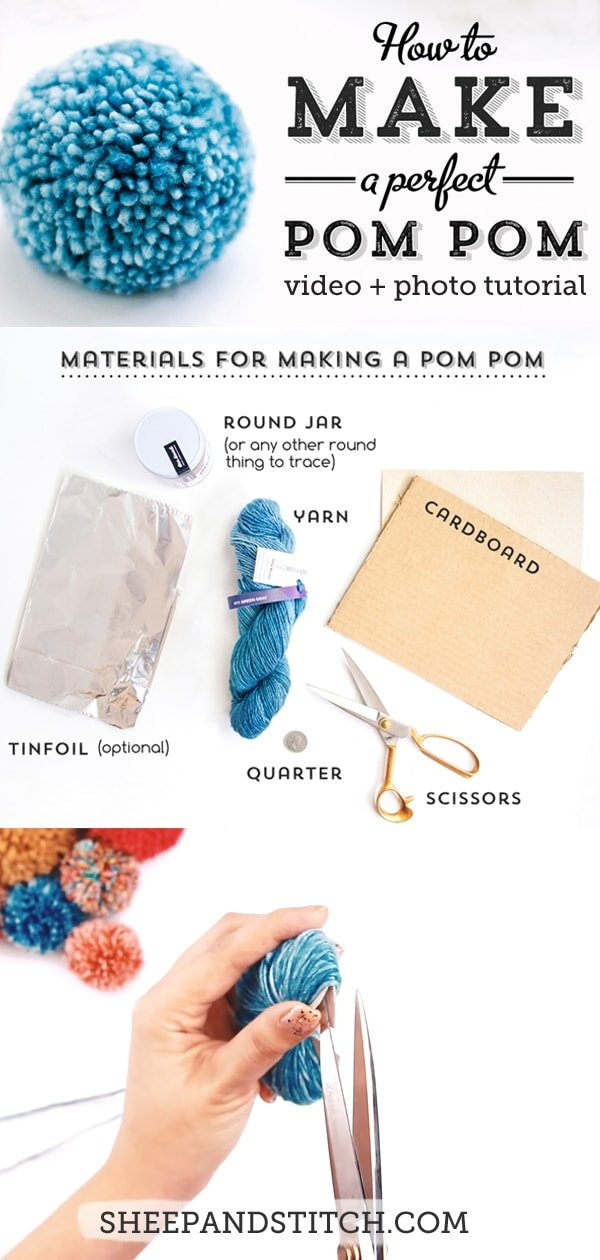 pom pom tutorial graphic