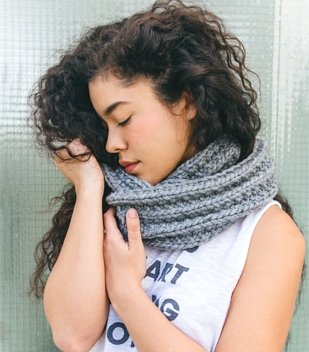 infinity scarf free knitting pattern for beginners