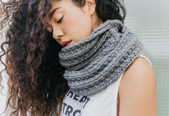 infinity scarf pattern for beginner