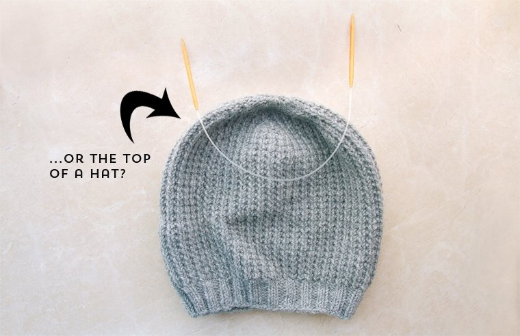 how to knit hat with dpns