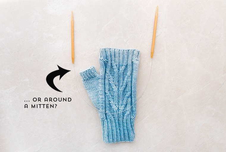 how to knit with dpns