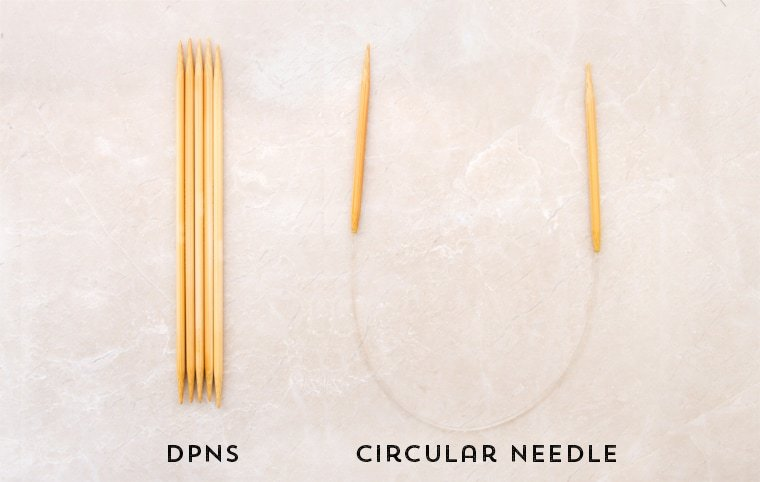 double pointed needles vs circular needles