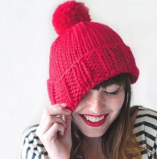 chunky hat knitting pattern free