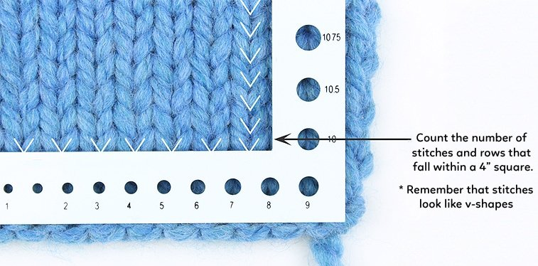 knitting gauge measure
