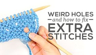 how to fix extra stitches