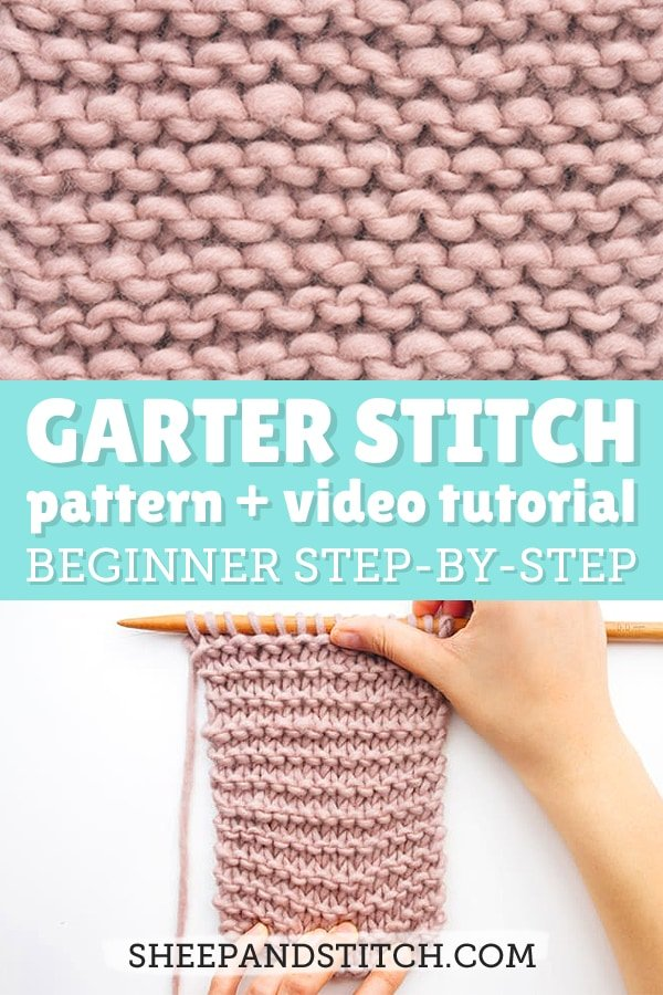 garter stitch knitting on needles
